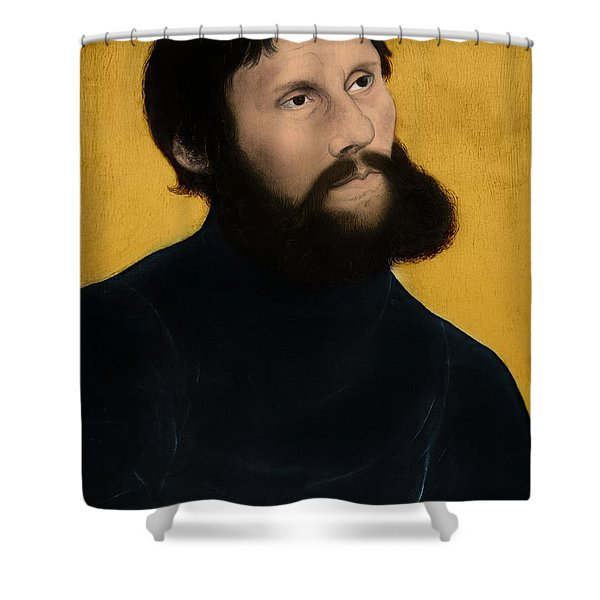 Martin Luther, German Theologian Shower Curtain