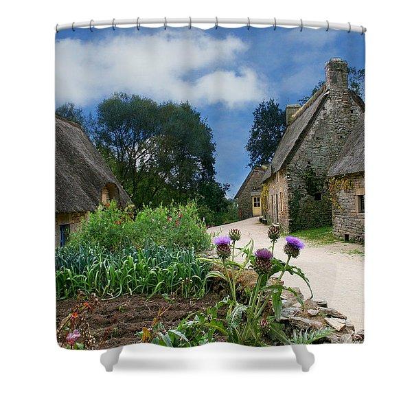 Medieval Village Shower Curtain