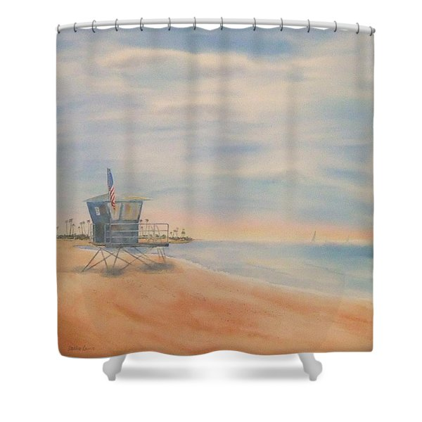 Morning By The Beach Shower Curtain