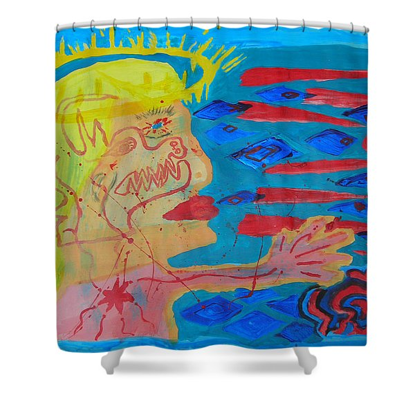 Past Their Mask - Hate Evil  Shower Curtain
