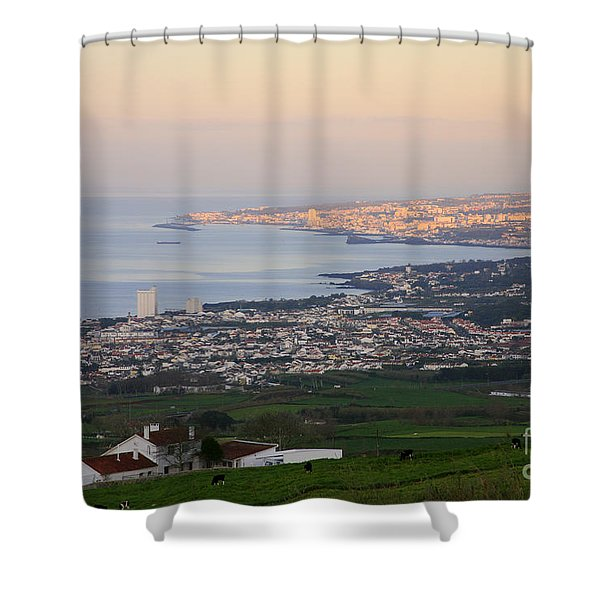 Ponta Delgada And Lagoa Shower Curtain