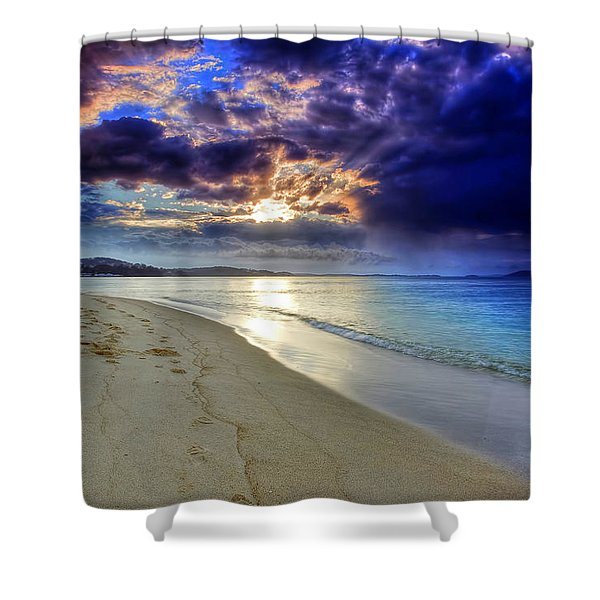 Port Stephens Sunset Shower Curtain