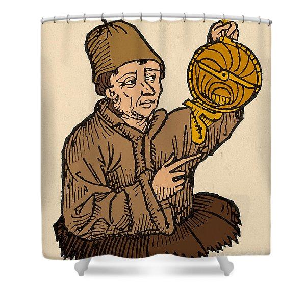 Regiomontanus, German Mathematician Shower Curtain