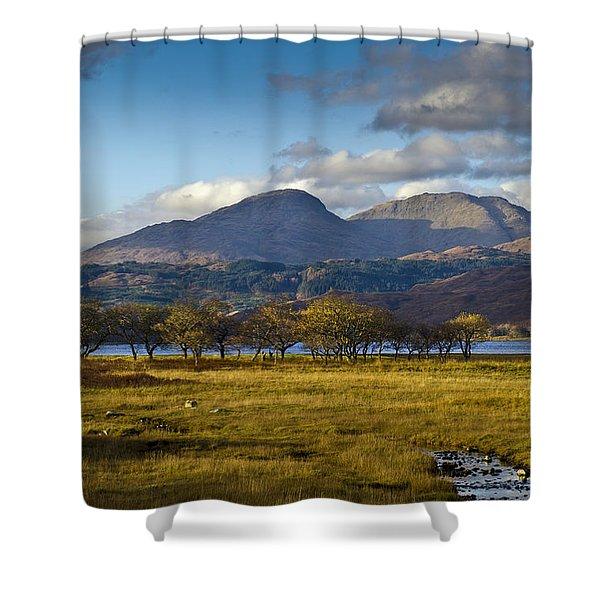 Scottish Landscape View Shower Curtain