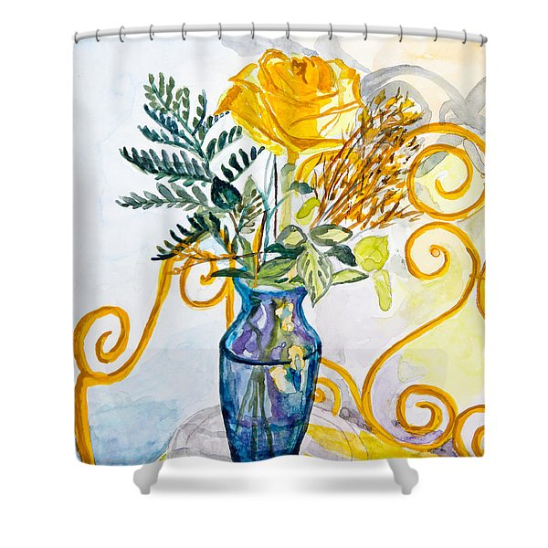 The Blue Vase Shower Curtain