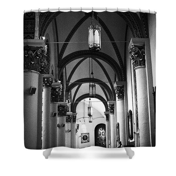 The Loretto Chapel In Santa Fe Shower Curtain