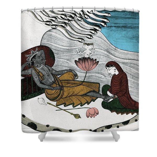 Vishnu And Lakshmi Shower Curtain