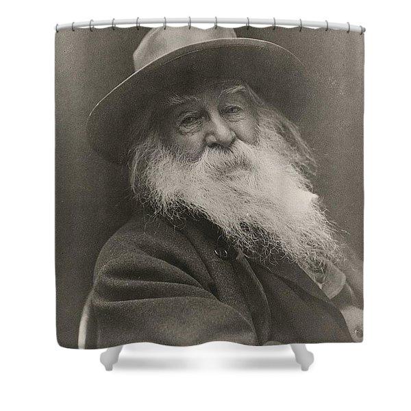 Walt Whitman Shower Curtain