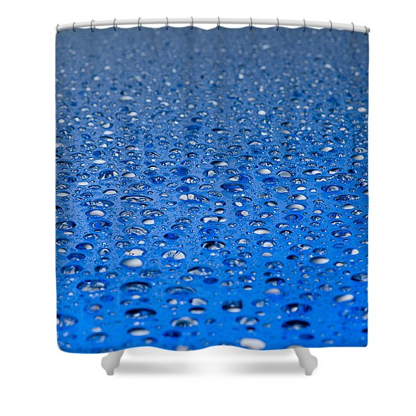 Water Drops On A Shiny Surface Shower Curtain