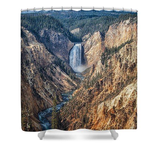 Yellowstone Lower Falls Shower Curtain