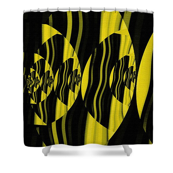 Shower Curtain featuring the digital art Twirling by Mihaela Stancu