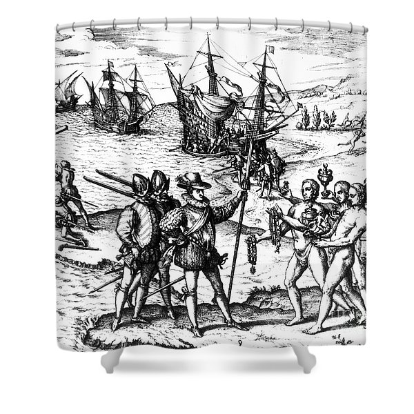 Christopher Columbus Shower Curtain