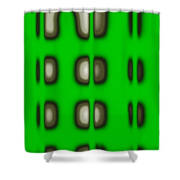 Shower Curtain featuring the digital art Follow The Lights by Mihaela Stancu