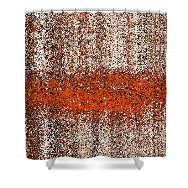 Shower Curtain featuring the digital art Color Rust by Mihaela Stancu