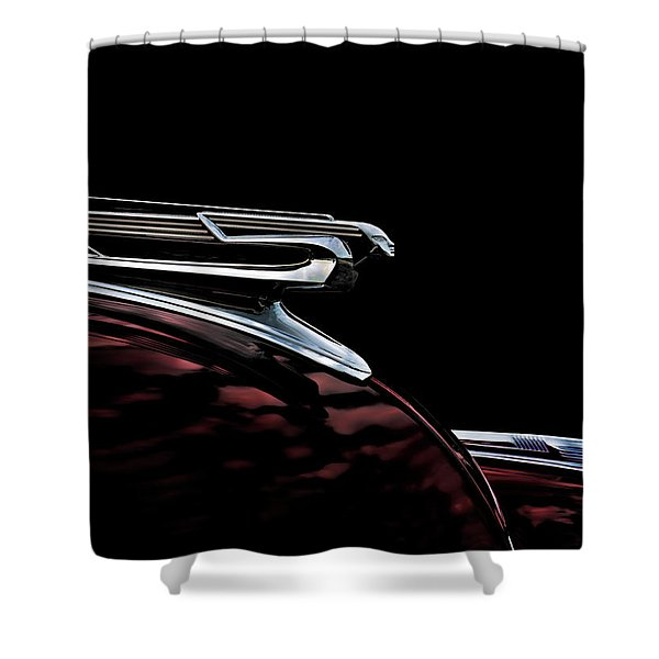 1940 Chevy Hood Ornament Shower Curtain