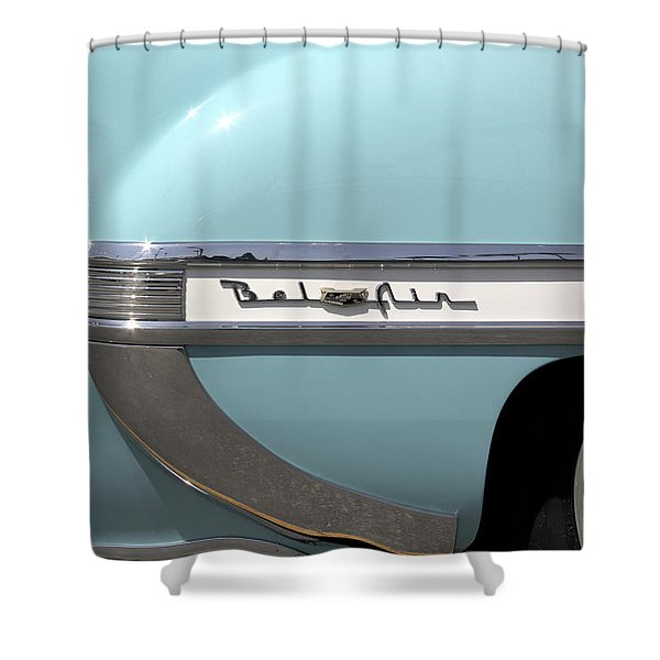1954 Chevy Belair Shower Curtain