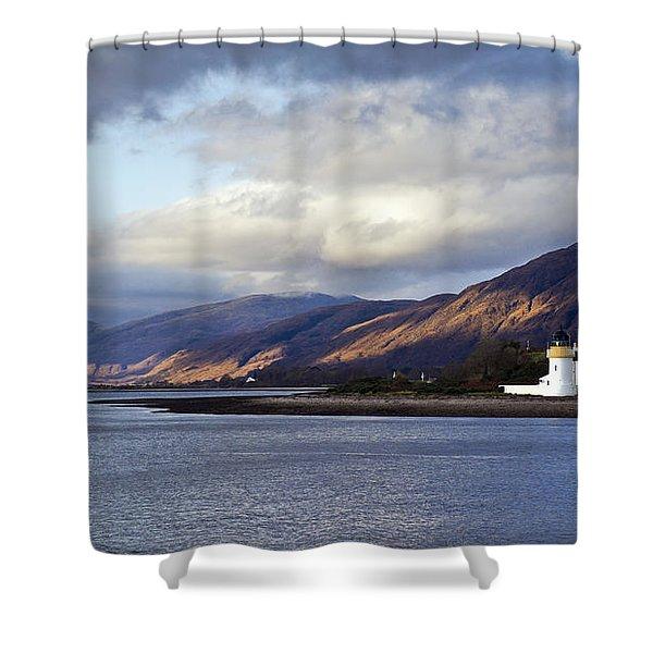Corran Lighthouse Shower Curtain