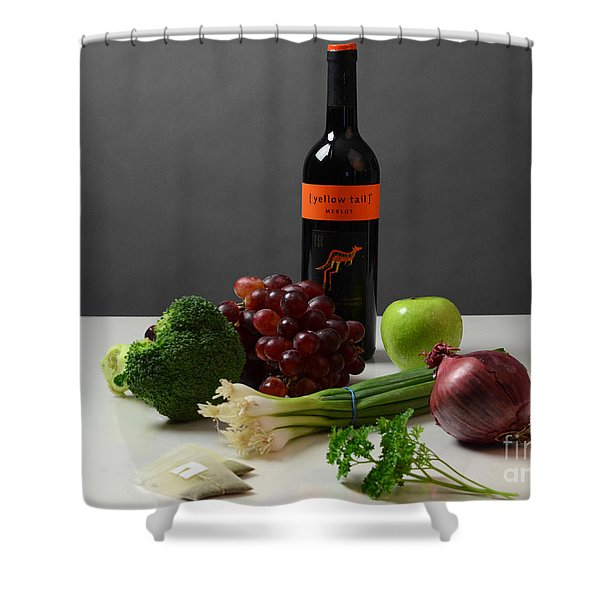 Foods Rich In Quercetin Shower Curtain