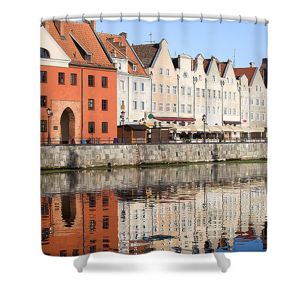 Gdansk Old Town Shower Curtain