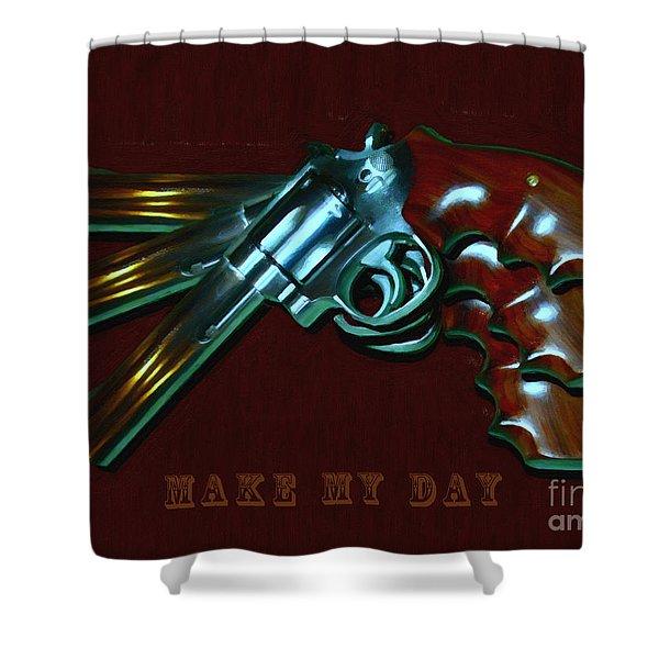 357 Magnum - Make My Day - Painterly Shower Curtain