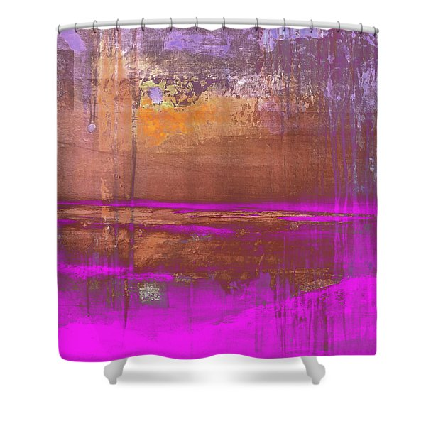 Shower Curtain featuring the digital art Color Patches by Mihaela Stancu