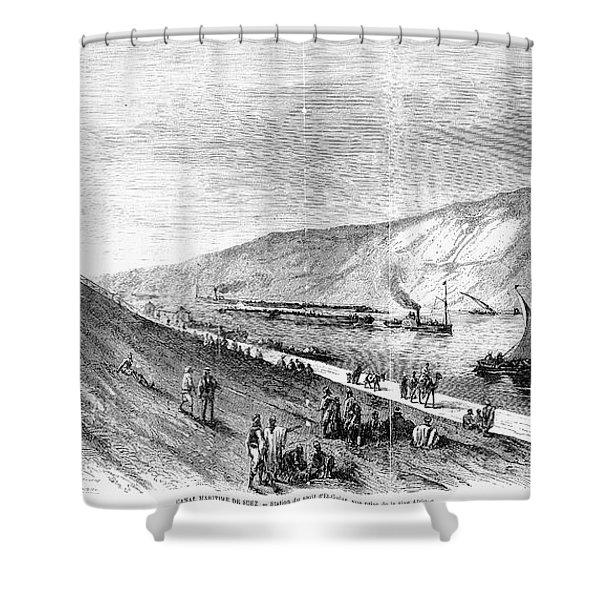 Suez Canal, 1869 Shower Curtain