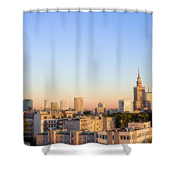 Warsaw Cityscape Shower Curtain