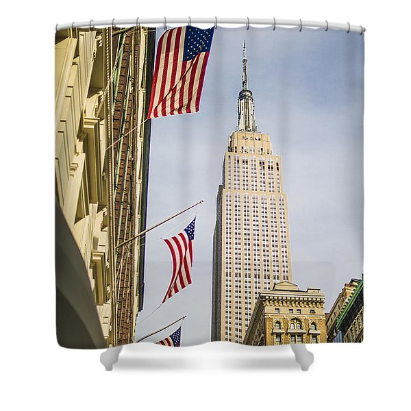 Empire State Building Shower Curtain