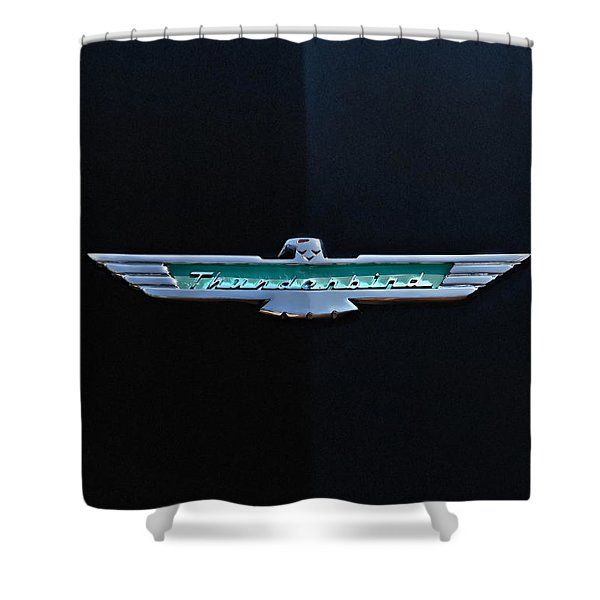 '56 T Bird Badge Shower Curtain
