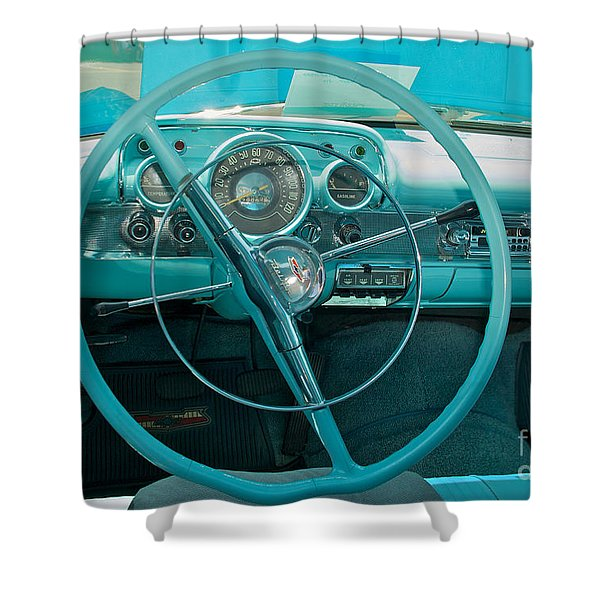 57 Chevy Bel Air Interior 2 Shower Curtain