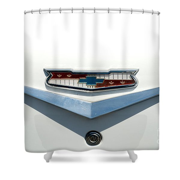 57 Chevy Emblem Shower Curtain