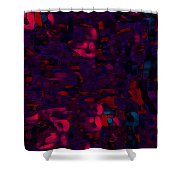 Shower Curtain featuring the digital art Cromatic by Mihaela Stancu