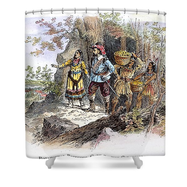 Pocahontas (1595?-1617) Shower Curtain