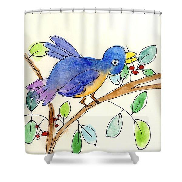 A Bird Shower Curtain