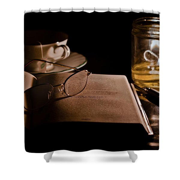 A Candlelight Scene Shower Curtain