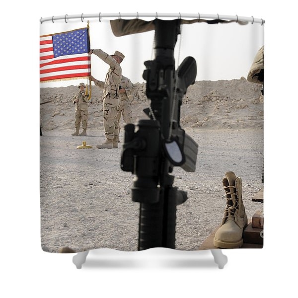A Final Guardmount Ceremony To Honor Shower Curtain