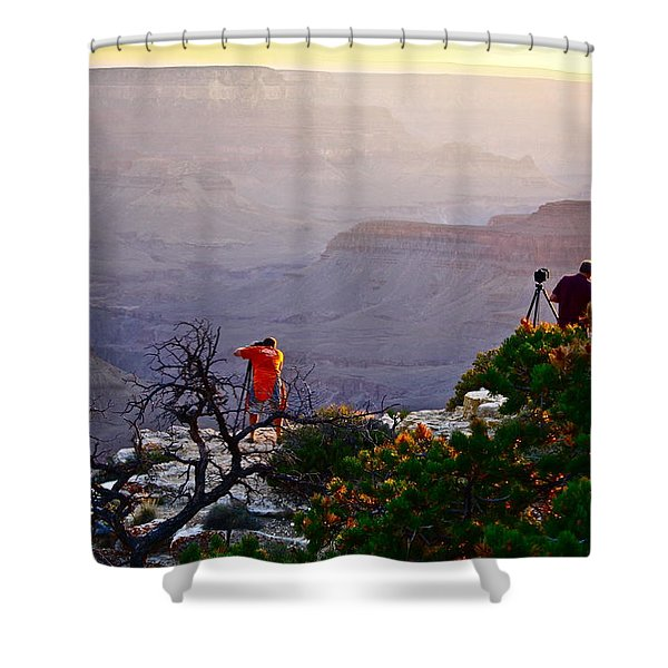 A Grand Meeting Place Shower Curtain