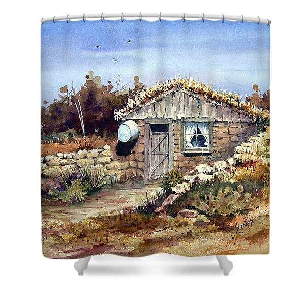 A Little South Of Wolf Creek Shower Curtain