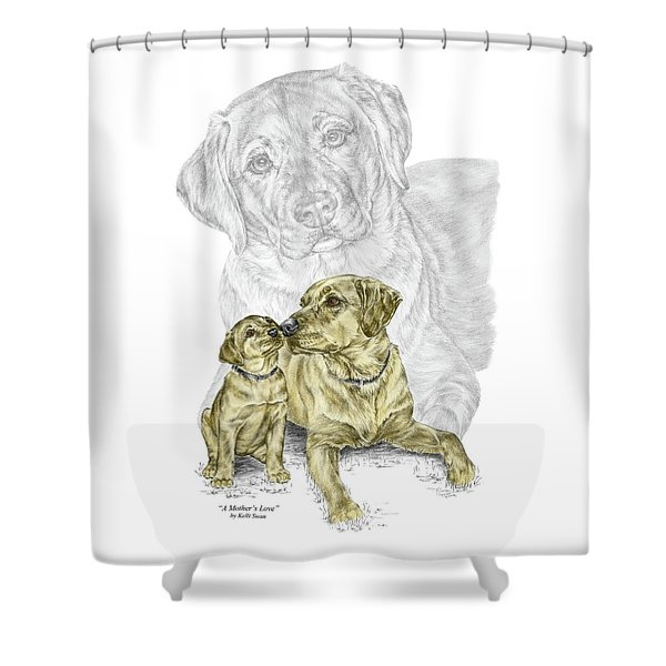 A Mothers Love - Labrador Dog Print Color Tinted Shower Curtain