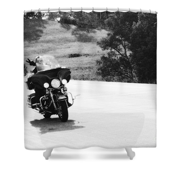 A Peaceful Ride Shower Curtain