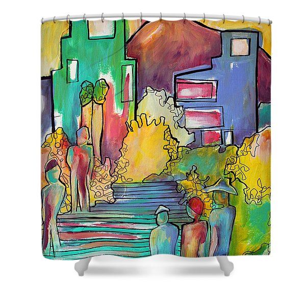 A Shared Story Shower Curtain