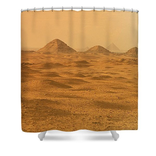 A Solitary Figure In The Desert Shower Curtain