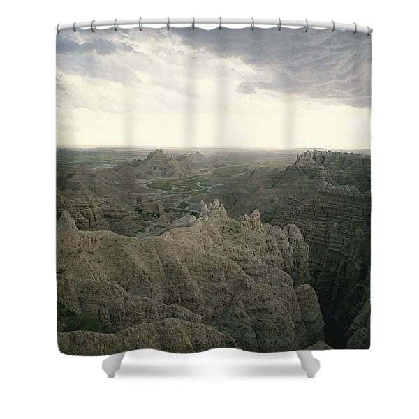 A Storm Moves Over Sheep Mountain Table Shower Curtain