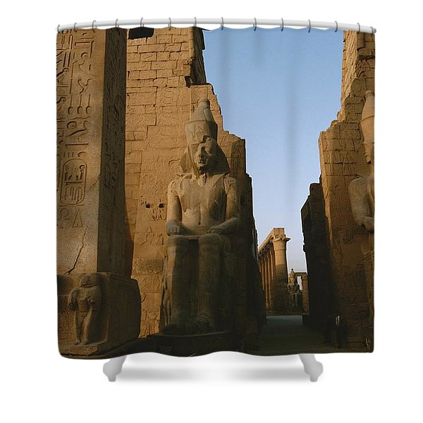 A View Of Luxor Temple Shower Curtain