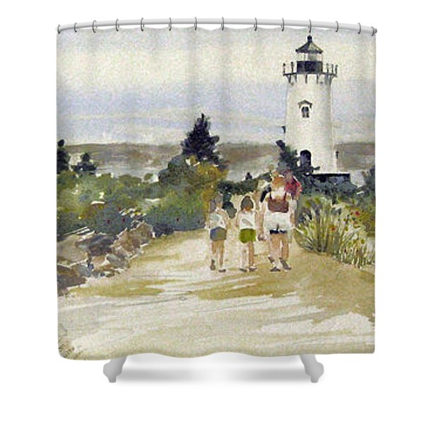 A Walk To Edgartown Light Shower Curtain