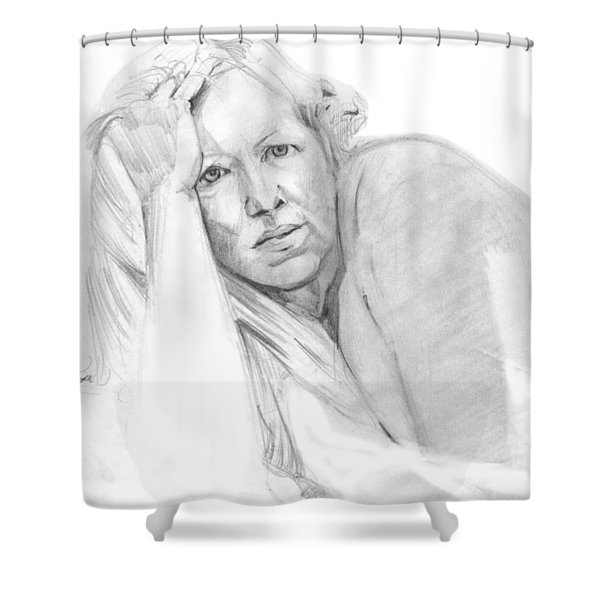 A Working Model  Shower Curtain