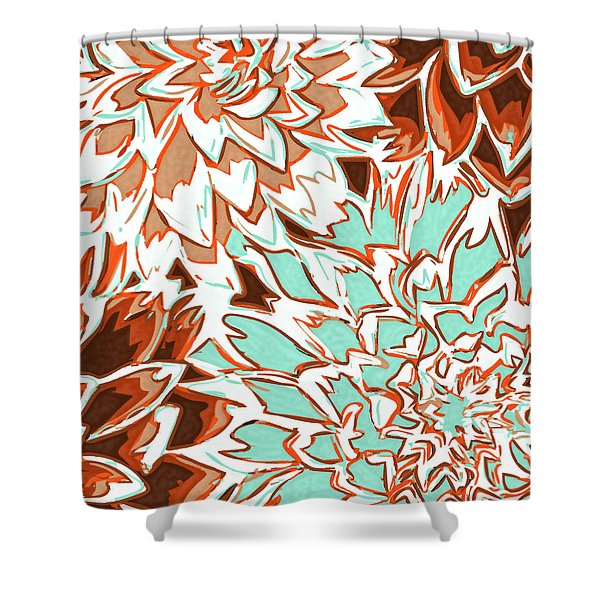 Abstract Flowers 12 Shower Curtain by Sumit Mehndiratta