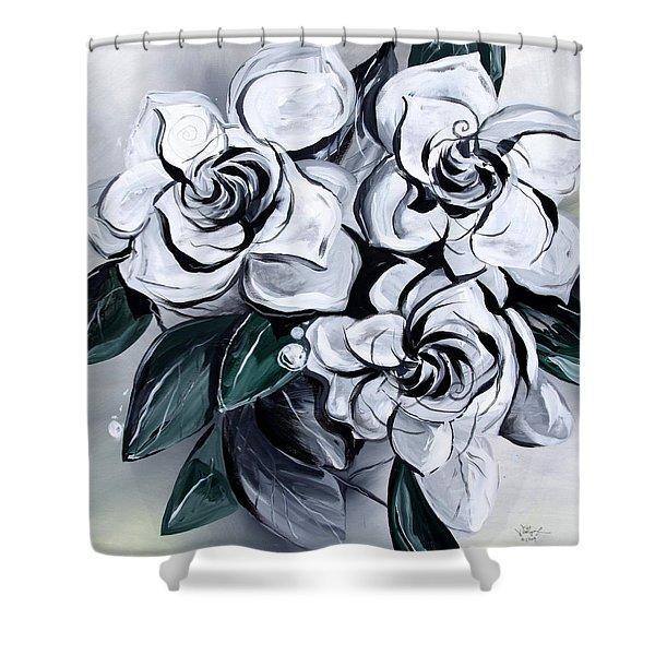 Abstract Gardenias Shower Curtain