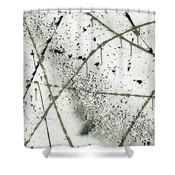 Abstract Remnants Of The Big Bang Shower Curtain
