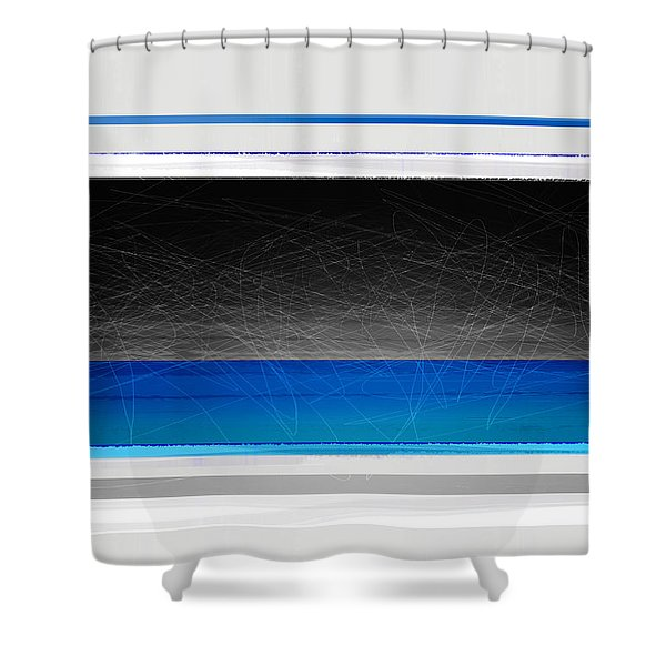 Abstract With Blue And Yellow  Shower Curtain